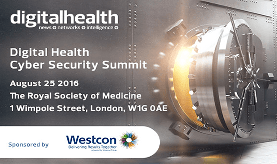 First Digital Health Cyber Security Summit this month