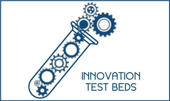 Innovation test beds: doing IT at scale