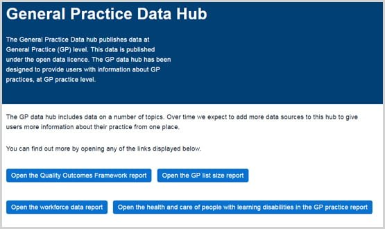 GP statistics available to public through new data hub