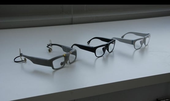 A pair of glasses designed by Emteq capable of tracking facial expressions