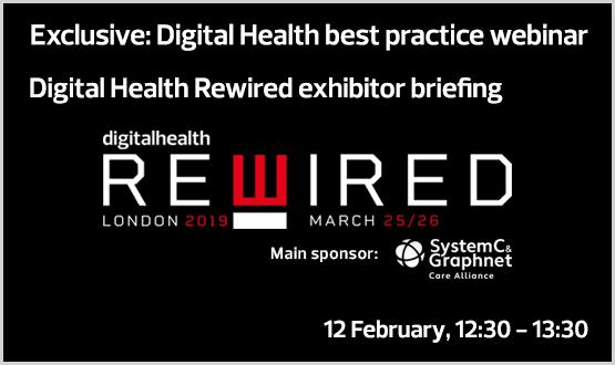 Digital Health Rewired exhibitor briefing webinar