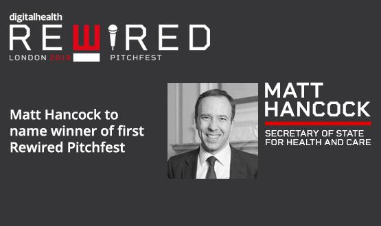 Matt Hancock to name winner of first Rewired Pitchfest