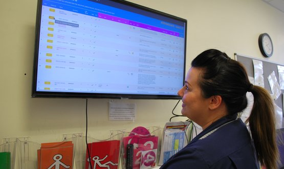 Barnsley Hospital develops digital whiteboard for patient information