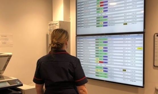 Digital whiteboards save 5,000 hours of nurse's time at Gateshead