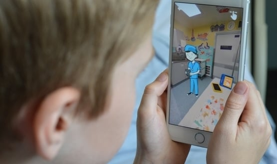 The app includes a virtual reality doctor, nurse and anaesthetist, and gives a tour of wards