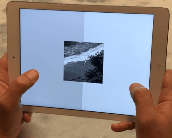 A person using the Cognetivity iPad app