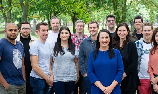 Staff photo of Yorkshire based digital agency, HMA