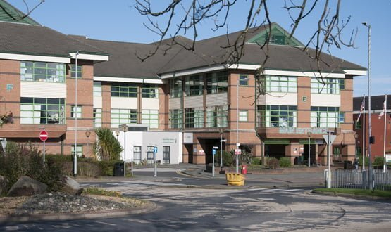 The exterior of Bolton Hospital