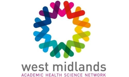Multicoloured logo for West Midlands Academic Health Science Network