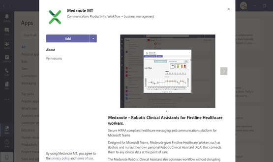 Medxnote launches app on Microsoft Teams App Store