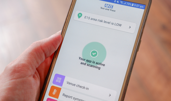 NHS Covid-19 app to share user's venue check-in data
