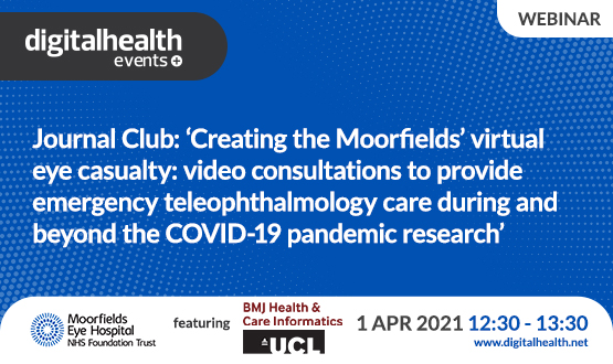 Journal Club: 'Creating the Moorfields' virtual eye casualty: video consultations to provide emergency teleophthalmology care during and beyond the COVID-19 pandemic research'