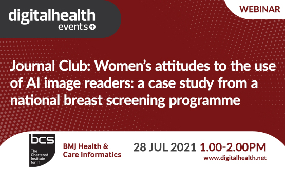 Journal Club: Women's attitudes to the use of AI image readers: a case study from a national breast screening programme