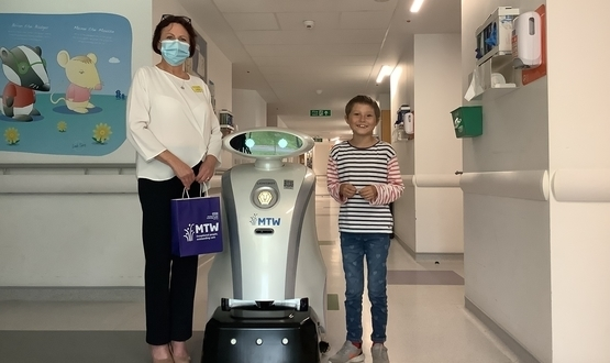 Young patients at Maidstone and Tunbridge Wells NHS Trust help name cleaning robots